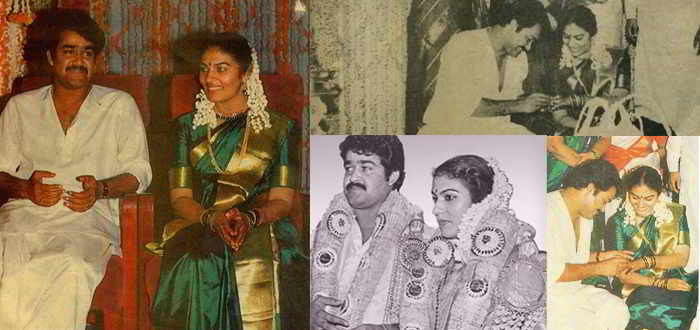 Mohanlal and Suchitra Marriage Pics