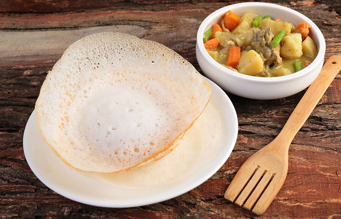 Kerala Appam and Potato Stew