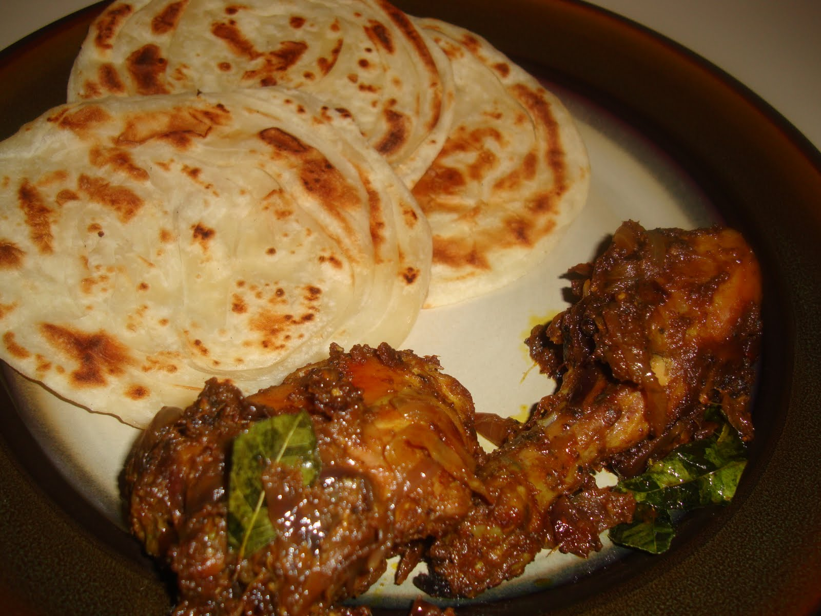 Parotta and Chicken